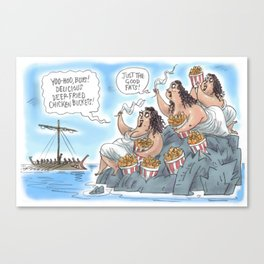 Sirens of the Rocks Canvas Print