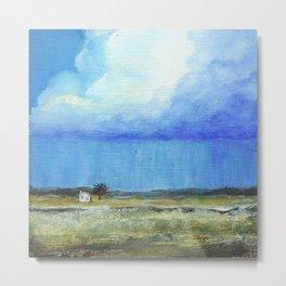 A Perfect Storm, Abstract Landscape Art Metal Print