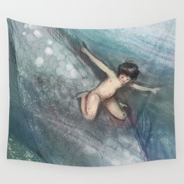 Water Baby Wall Tapestry