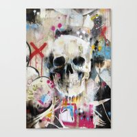 skull Canvas Prints featuring Skull by FAMOUS WHEN DEAD