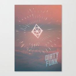 Dirty funk Canvas Print