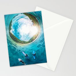 Surfing in the Summer, with the Sea All Around Us Stationery Cards
