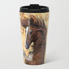 Awesome brown horse  Travel Mug