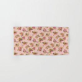 Pugs in flower garden Hand & Bath Towel