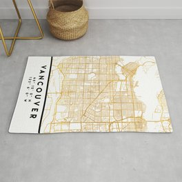 VANCOUVER CANADA CITY STREET MAP ART Rug