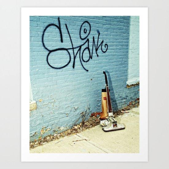 Urban street cleaner Art Print