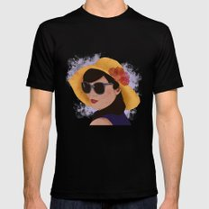 Verão MEDIUM Black Mens Fitted Tee