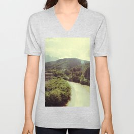 Between Mountains  Unisex V-Neck