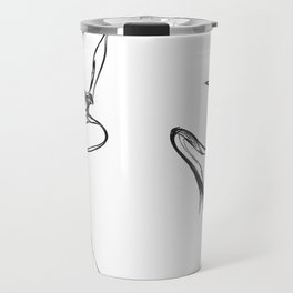 Swallow 1. Black on white background. Travel Mug