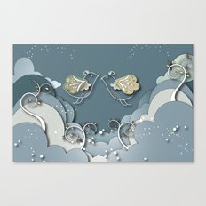 Blue kiss in spring Canvas Print