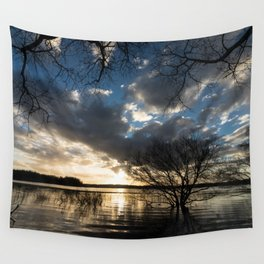 Sunset in the Los Padres lagoon. Wall Tapestry