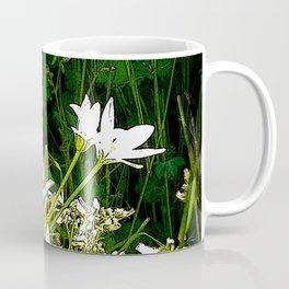 White wildflowers. Coffee Mug