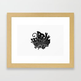 Taira Clan · Black Mon Framed Art Print