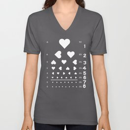 Can you see the love? Unisex V-Neck