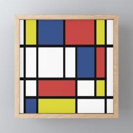 Mondrian 2 Framed Mini Art Print