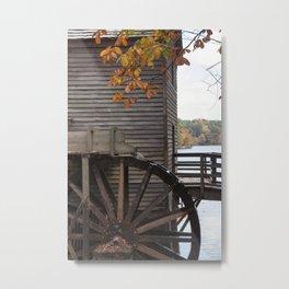 Fall Mill Metal Print