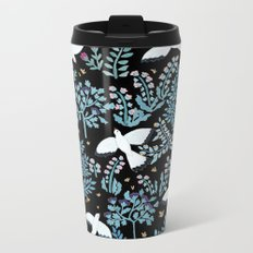 white birds garden Metal Travel Mug
