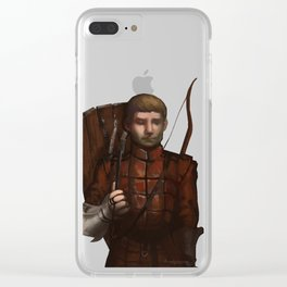 Medieval archer Clear iPhone Case