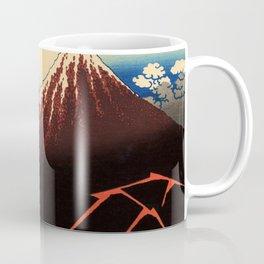 "Hokusai (1760–1849) ""Rainstorm Beneath the Summit"" Coffee Mug"