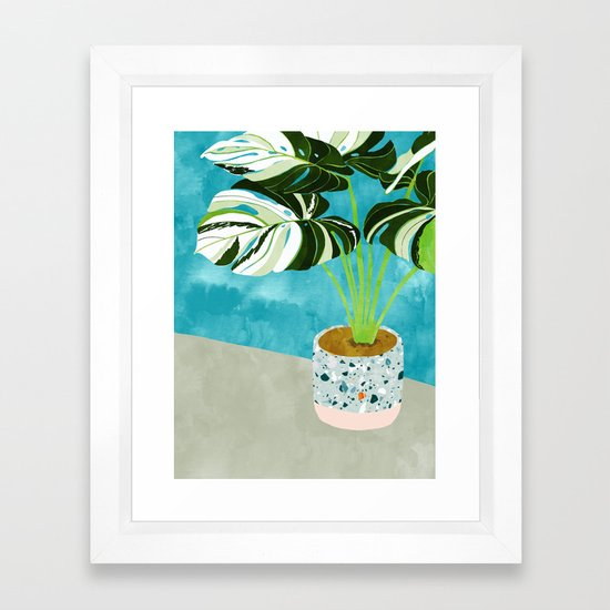Variegated Monstera #tropical #painting #nature by 83oranges