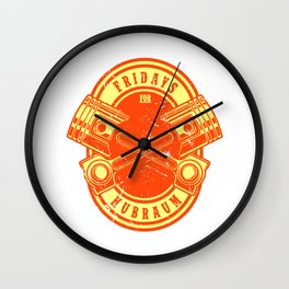 FRIDAYS FOR HUBRAUM Gift For Car Tuner Wall Clock