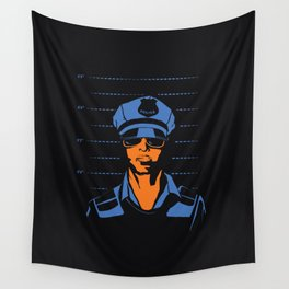 Dirty Cop Mugshot Police Brutality Art Print Wall Tapestry