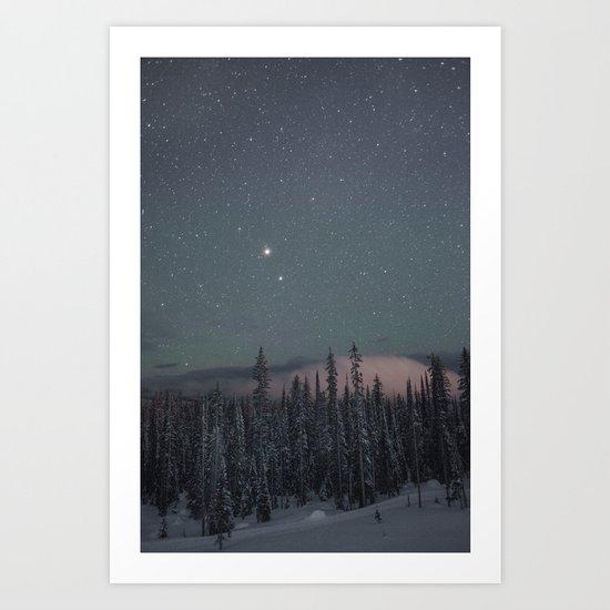 Big White Stars V Art Print