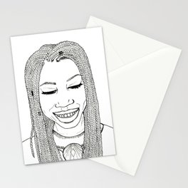 Beautiful African woman with twist braids Stationery Cards