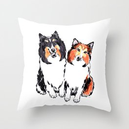 Shetland Sheepdogs Throw Pillow