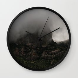 Foggy Chisos Mountaintop, Big Bend - Landscape Photography Wall Clock
