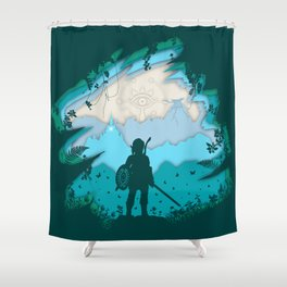 Breath of Warrior Shower Curtain