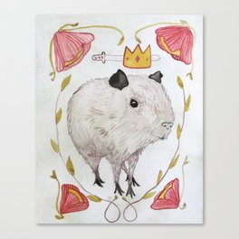 Capybara Prince Canvas Print