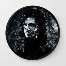 Winter's Coming Wall Clock