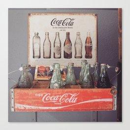 Vintage Coca Cola Bottles Canvas Print