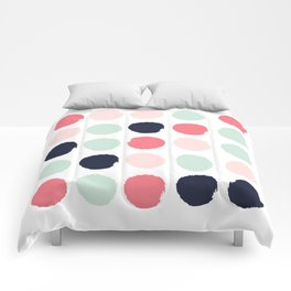 Painted dots trendy color palette minimal polka dots decor nursery home Comforters