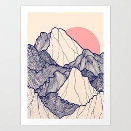 The calm morning mountains Art Print