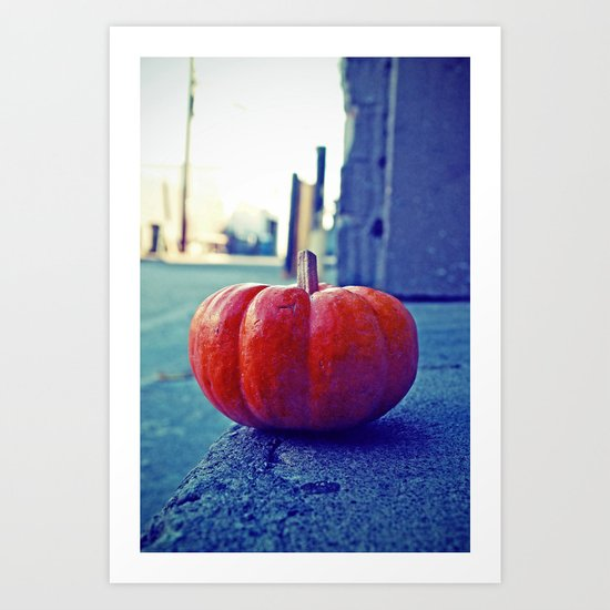 Alleyway pumpkin Art Print