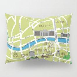 Dublin map illustrated Pillow Sham