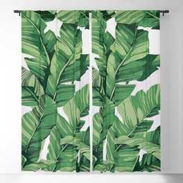 Tropical banana leaves VI Blackout Curtain
