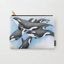 Orca Whales Pod Carry-All Pouch