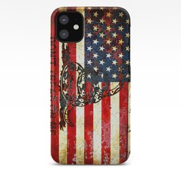 American Flag And Gadsden Flag Composition iPhone Case