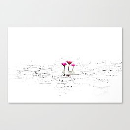 Lotus illustration Canvas Print