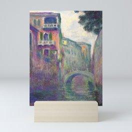"Claude Monet ""Le Rio de la Salute"" Mini Art Print"