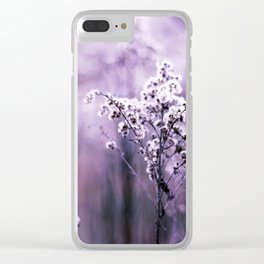 Ultraviolet grasses Clear iPhone Case