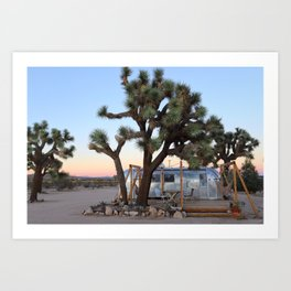 Airstream, Joshua Tree Acres 3 Art Print