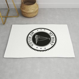 My boat my rules boat sailor sailboat captain ship Rug