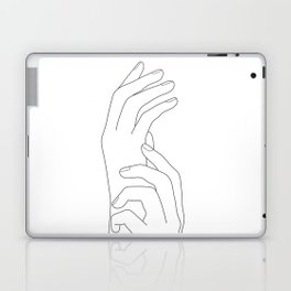 Minimal Line Art Feminine Hands Laptop & iPad Skin