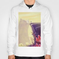 beauty and the beast Hoodies featuring Beauty and the Beast by Josè Sala