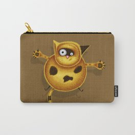 Flying Fat Cat | Brown Carry-All Pouch