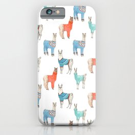 Llamas with Jumpers iPhone Case